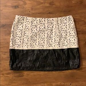 Lush black and white mini skirt